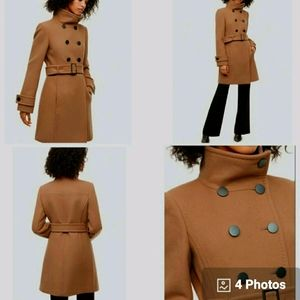 T. babaton beige wool and cashmere coat
